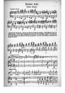 Fragments: Act I, for voices and piano by Richard Wagner