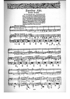 Fragments: Act II, for voices and piano by Richard Wagner