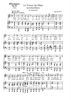 Songs and Romances, Op.51: No.4 Auf dem Rhein (On The Rhine) by Robert Schumann