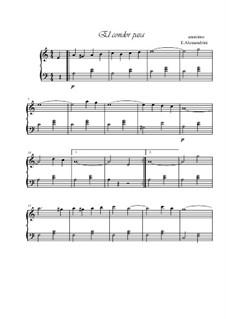 El condor pasa (Flight Condor): For piano by folklore