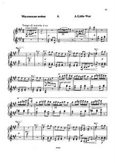 À Argenteau, Op.40: No.4 La petite guerre (A Little War) by César Cui