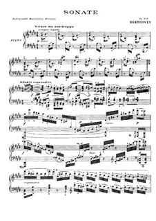 Sonata for Piano No.30, Op.109: For a single performer by Ludwig van Beethoven