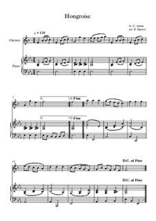 10 Easy Classical Pieces For Clarinet & Piano Vol.5: Hongroise by Wolfgang Amadeus Mozart, Franz Schubert, Antonín Dvořák, Georges Bizet, Georg Friedrich Händel, Giuseppe Verdi, Pyotr Tchaikovsky, Émile Waldteufel, Adolphe Adam, Sebastián Yradier