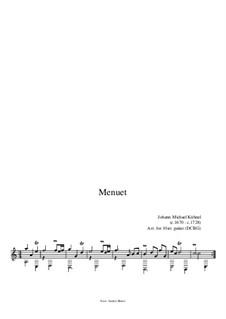 Suite: Menuet by Johann Michael Kühnel
