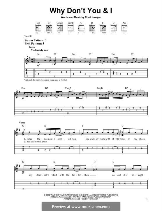 Why Don't You & I (Santana): For guitar by Carlos Santana