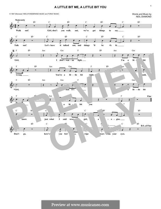 A Little Bit Me, a Little Bit You: For keyboard by Neil Diamond