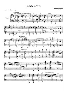 Sonata for Piano No.27, Op.90: For a single performer by Ludwig van Beethoven