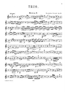 Trio for Clarinet, French Horn and Piano, Op.25: French horn part by Maximilian Heidrich
