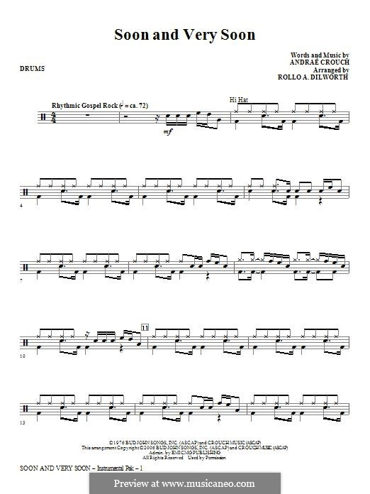 Soon and Very Soon: Drums part by Andrae Crouch