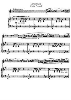 Twenty-Five Pieces, Op.20: No.8 Andalouse, for flute and piano by Emile Pessard