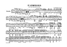 Symphony No.4, Op.60: Version for piano four hands by Ludwig van Beethoven