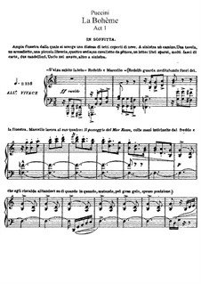 Complete Opera, uncomplete: Act I, for Soloists, Choir and Piano (no page 82) by Giacomo Puccini