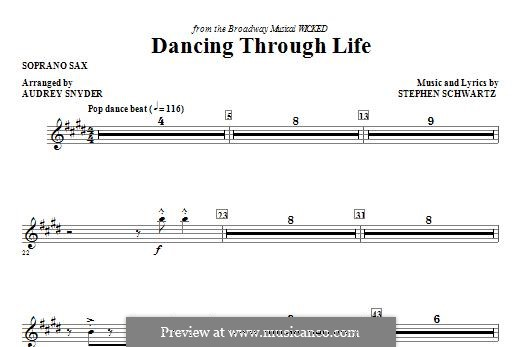 Dancing Through Life (from Wicked): Soprano Sax part by Stephen Schwartz