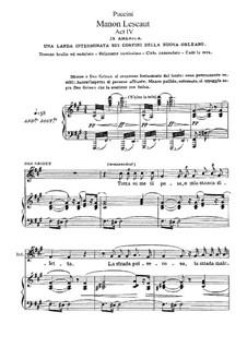 Manon Lescaut : Act IV by Giacomo Puccini