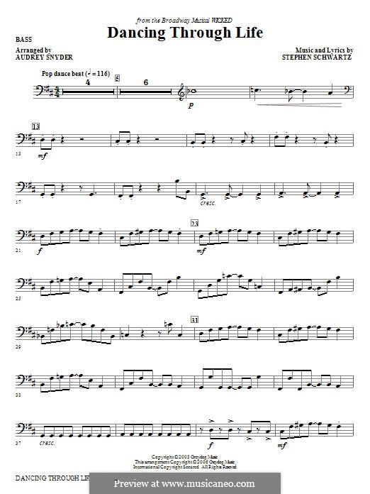 Dancing Through Life (from Wicked): Bass part by Stephen Schwartz