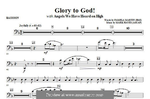 Glory to God!: Bassoon part by Mark Hayes