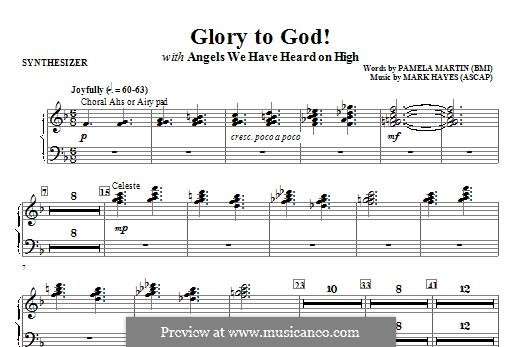 Glory to God!: Synthesizer part by Mark Hayes