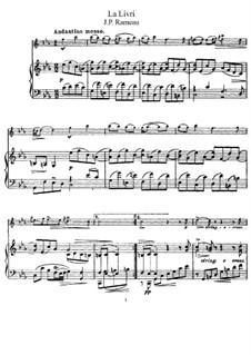 Harpsichord Concerto No.1 in C Minor, RCT 7: Movement II 'La livri', for violin and piano by Jean-Philippe Rameau