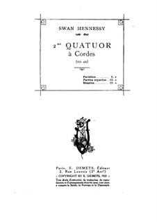 String Quartet No.2 in C Minor, Op.49: String Quartet No.2 in C Minor by Swan Hennessy