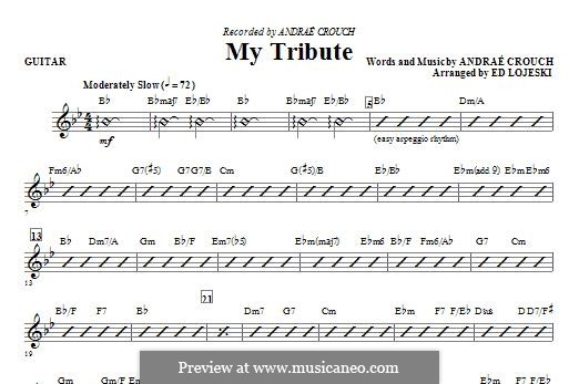 My Tribute: Guitar part by Andrae Crouch