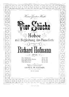 Scherzo for Oboe and Piano, Op.81 No.4: Solo part by Richard Hofmann