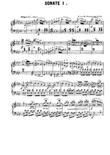 Three Sonatas for Piano, Op.2: Sonata No.1 (with fingering) by Ludwig van Beethoven