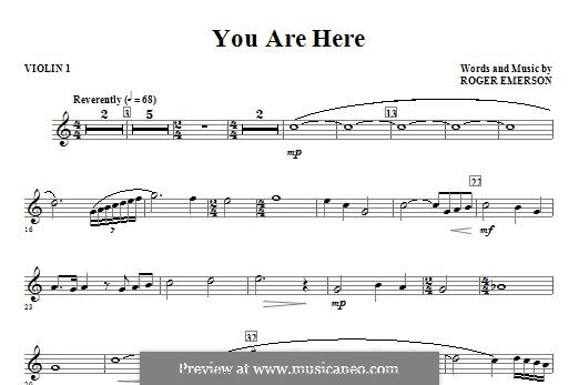 You are Here: Violin I part by Roger Emerson