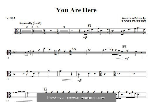 You are Here: Viola part by Roger Emerson