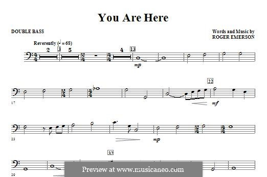 You are Here: Double Bass part by Roger Emerson