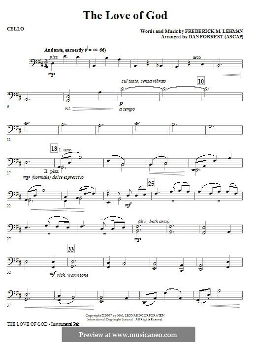 The Love of God: Cello part by Frederick M. Lehman