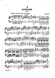 Fantasia for Piano in C Major 'Wanderer', D.760 Op.15: Movements I-II by Franz Schubert