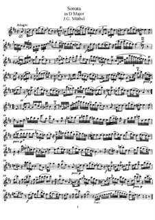Sonata for Flute and Piano in D Major: Solo part by Johann Gottfried Müthel