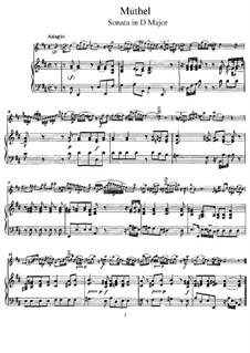 Sonata for Flute and Piano in D Major: Score by Johann Gottfried Müthel
