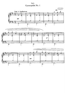 Gymnopédies: No.1 for piano by Erik Satie