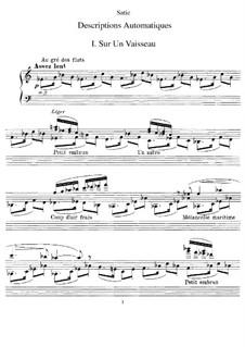 Descriptions automatiques: Descriptions automatiques by Erik Satie