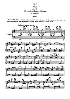 Fragments: Act III, for soloists, choir and piano by Giuseppe Verdi