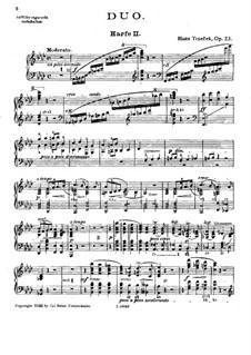 Duo for Two Harps, Op.23: Harp II part by Hanuš Trneček