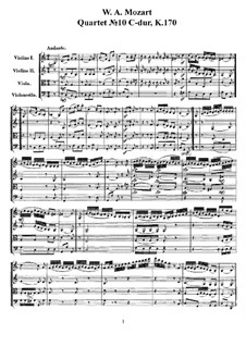 String Quartet No. 10 in C Major, K170 - Cello