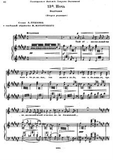 Night: For voice and piano (Second edition) by Modest Mussorgsky