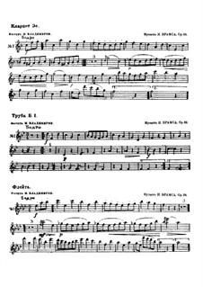 Waltz No.1: Arrangement for wind orchestra – parts by Johannes Brahms