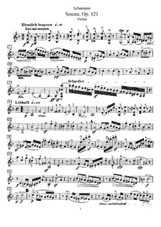 Sonata for Violin and Piano No.2 in D Minor, Op.121: Solo part by Robert Schumann