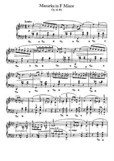 Mazurkas, Op.63: No.2 in F Minor by Frédéric Chopin