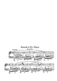 No.21 in B Flat Major: For piano by Frédéric Chopin