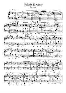 Waltz in E Minor, B.56 KK IV1/15: For piano by Frédéric Chopin