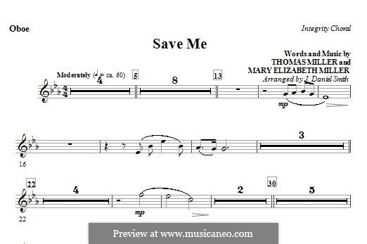 Save Me: Oboe part by Thomas Miller