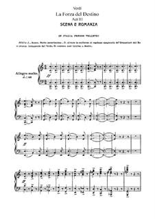 La forza del destino: Act III, for soloists, choir and piano by Giuseppe Verdi