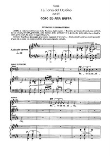 La forza del destino: Act IV, for soloists, choir and piano by Giuseppe Verdi