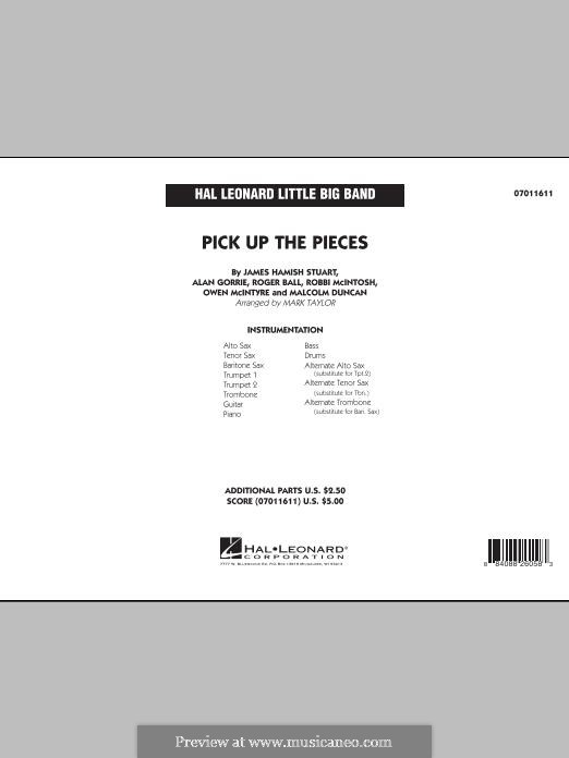 Pick Up the Pieces (Average White Band): Full Score by Hamish Stuart, Robert McIntosh, Roger Ball, Alan Gorrie, Malcolm Duncan, Owen McIntyre