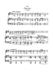 Goethe Songs: Book IV by Hugo Wolf