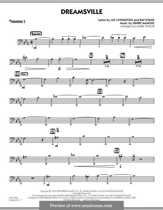 Dreamsville (arr. Mark Taylor): Trombone 2 part by Henry Mancini